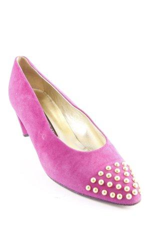 Walter Steiger High Heels violett-goldfarben Elegant