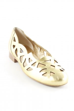 Walter Steiger Mary Jane Ballerinas gold-colored elegant