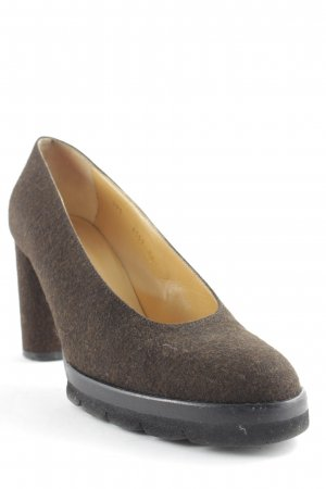 Walter Steiger Plateau-Pumps braun Business-Look