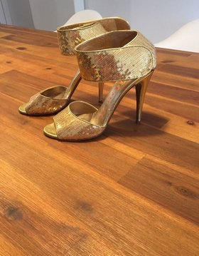 Walter Steiger High Heel Sandal gold-colored