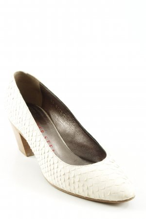 Walter Steiger Spitz-Pumps hellbeige Animalmuster Casual-Look