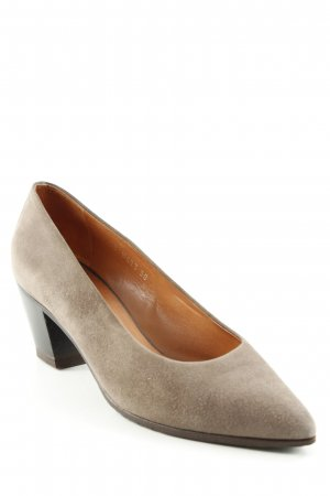 Walter Steiger Pointed Toe Pumps khaki casual look