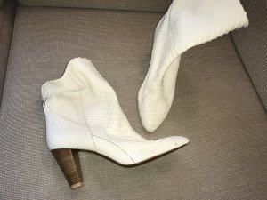 Walter Steiger Western Booties natural white-oatmeal leather