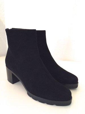 WALTER STEIGER Stiefeletten Schuhe 36 Neu Schwarz Wildleder Boots Black