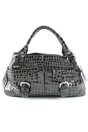 Walter Valentino Carry Bag black-silver-colored reptile print