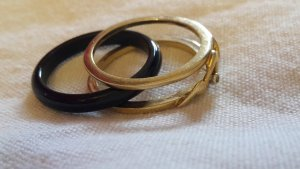 Gold Ring gold-colored-black real gold