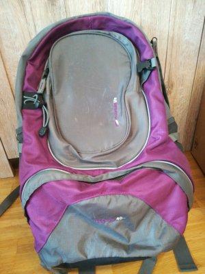 Sac à dos de randonnée gris-violet