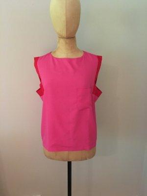 Wardrobe Seiden Bluse pink/rot Gr. 38 top Zustand