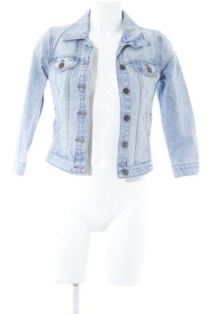 Ware Denim. Jeansjacke kornblumenblau Jeans-Optik