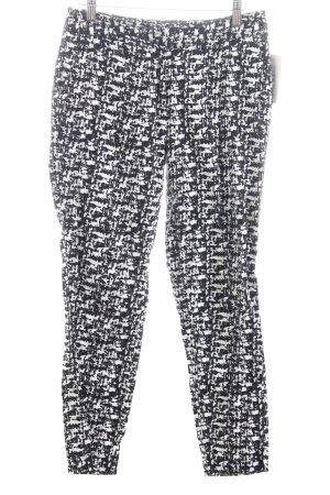 Warehouse 7/8-Hose weiß-schwarz abstraktes Muster Casual-Look