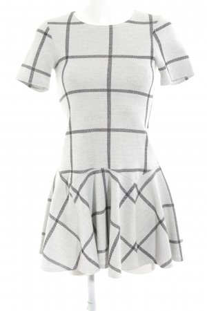 Warehouse A-Linien Kleid hellgrau-schwarz Karomuster Elegant
