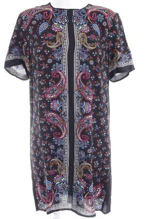 Warehouse A-Linien Kleid Ornamentenmuster Casual-Look