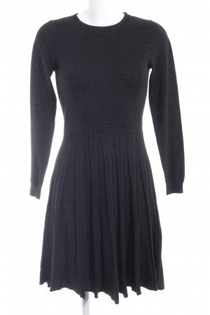 Warehouse A-Linien Kleid schwarz-silberfarben Casual-Look