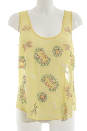 Warehouse ärmellose Bluse Blumenmuster Casual-Look
