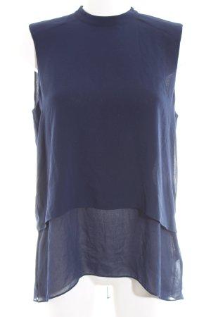 Warehouse ärmellose Bluse blau Elegant