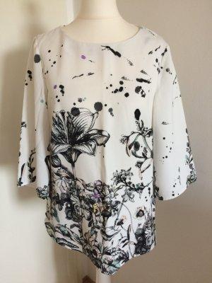 Warehouse Bluse 38 M neu weiß geblümt Blumen Print