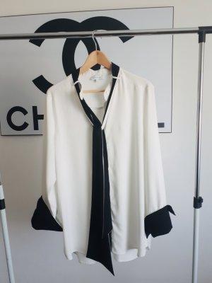 Warehouse Blusa con lazo negro-blanco Poliéster