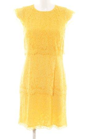 Warehouse Cocktailkleid blassgelb Romantik-Look
