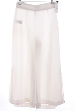 Warehouse Pantalone culotte bianco stile minimalista