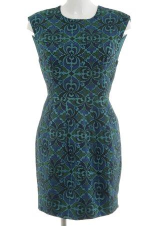 Warehouse Etuikleid grün-türkis grafisches Muster Business-Look