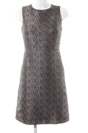 Warehouse Etuikleid schwarz-dunkelblau florales Muster Elegant