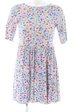Warehouse Jerseykleid blau-pink Blumenmuster Casual-Look