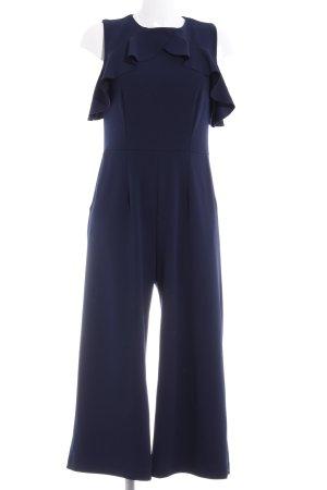 Warehouse Tuta blu scuro elegante