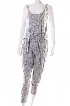 Warehouse Jumpsuit hellgrau-schwarz Allover-Druck