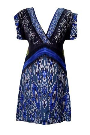 Warehouse Midi-jurk veelkleurig Zijde