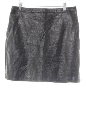 Warehouse Kunstlederrock schwarz Animalmuster Elegant