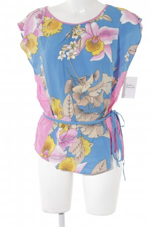 Warehouse Kurzarm-Bluse florales Muster Casual-Look