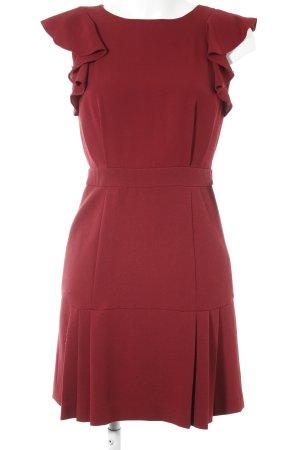 Warehouse Robe à manches courtes rouge foncé style décontracté
