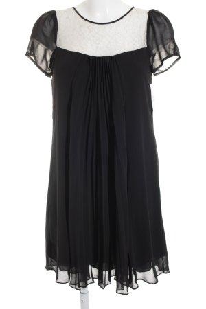Warehouse Kurzarmkleid schwarz-weiß Romantik-Look