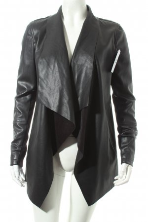 Warehouse Kurzjacke schwarz Biker-Look