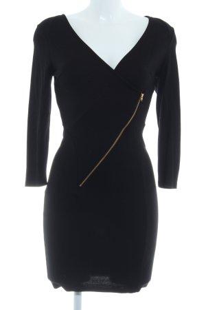 Warehouse Langarmkleid schwarz Elegant