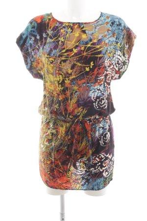 Warehouse Long-Bluse abstraktes Muster Casual-Look