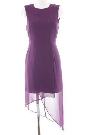 Warehouse Midikleid braunviolett schlichter Stil
