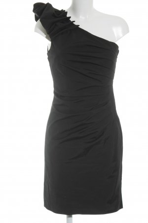 Warehouse One-Shoulder-Kleid schwarz Elegant