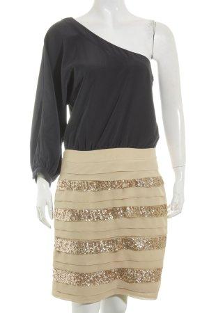 Warehouse One-Shoulder-Kleid schwarz-nude Elegant