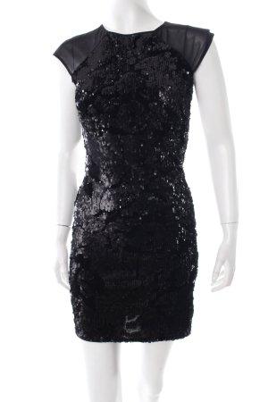 Warehouse Robe à paillettes noir motif léopard style festif