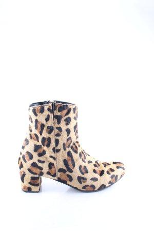 Warehouse Reißverschluss-Stiefeletten Animalmuster Street-Fashion-Look