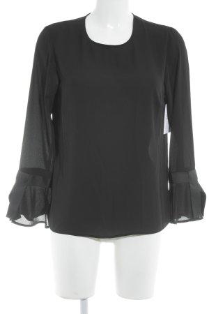 Warehouse Rüschen-Bluse schwarz Elegant