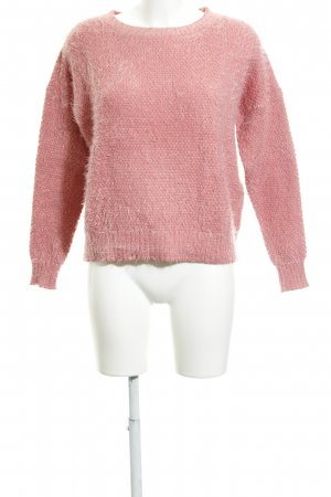 Warehouse Rundhalspullover lachs Casual-Look