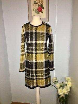 Warehouse Abito maglione nero-giallo-oro