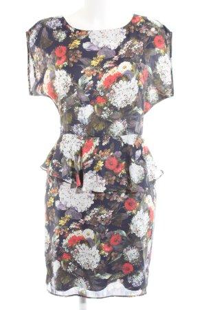 Warehouse Peplum Dress flower pattern casual look