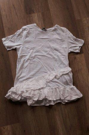 Warehouse Shirt Volants Peplum Weiß S