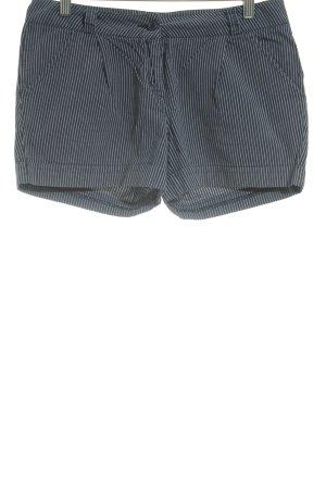 Warehouse Shorts stahlblau-weiß Streifenmuster Beach-Look
