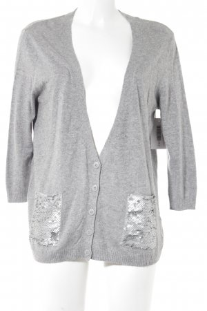 Warehouse Strick Cardigan grau meliert Casual-Look