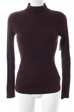 Warehouse Strickpullover bordeauxrot meliert Casual-Look
