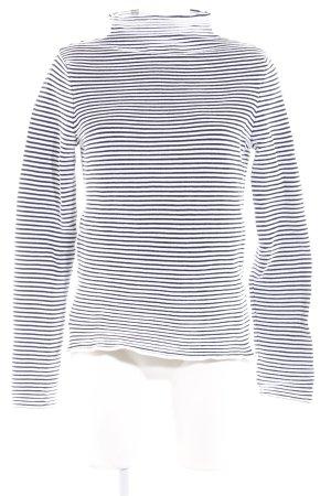 Warehouse Strickpullover weiß-dunkelblau Streifenmuster Casual-Look